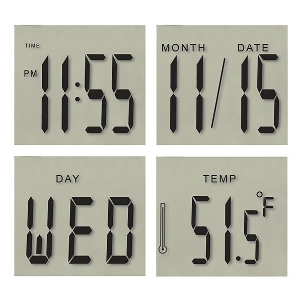 Brushed Metal Alarm Clock with Countdown Timer