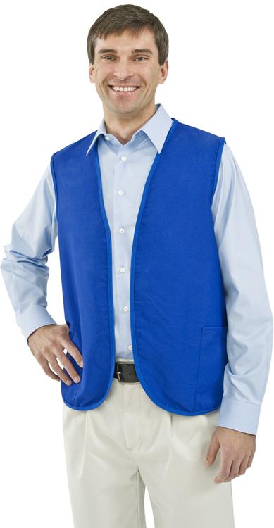 USA Made Non-Button 2 Pocket Vest, Blank, S-XL
