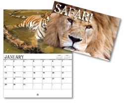 13 Month Mini Custom Photo Appointment Wall Calendar - SAFARI