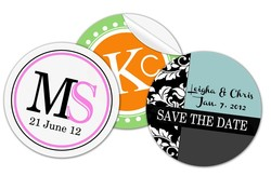 Wedding Circle Sticker-Label / Decal - Vinyl UV Coated - 3 Inch Diameter