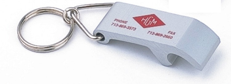 Aluminum Bottle Opener Key Tag - Standard Size