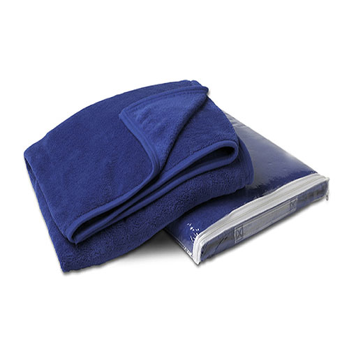 Royal Blue Coral Fleece Throw Blanket
