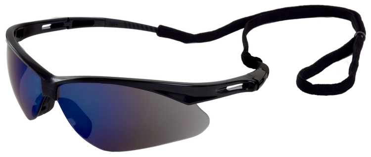 Octane Safety Glasses (Black Frame/Blue Mirror Lens)