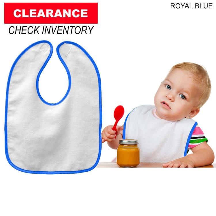 Velour Accent Baby Bib, 11x8, Blank
