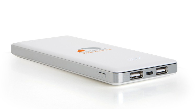High Capacity 12000mAh Dual Port Power Bank for iPad & Smartphones
