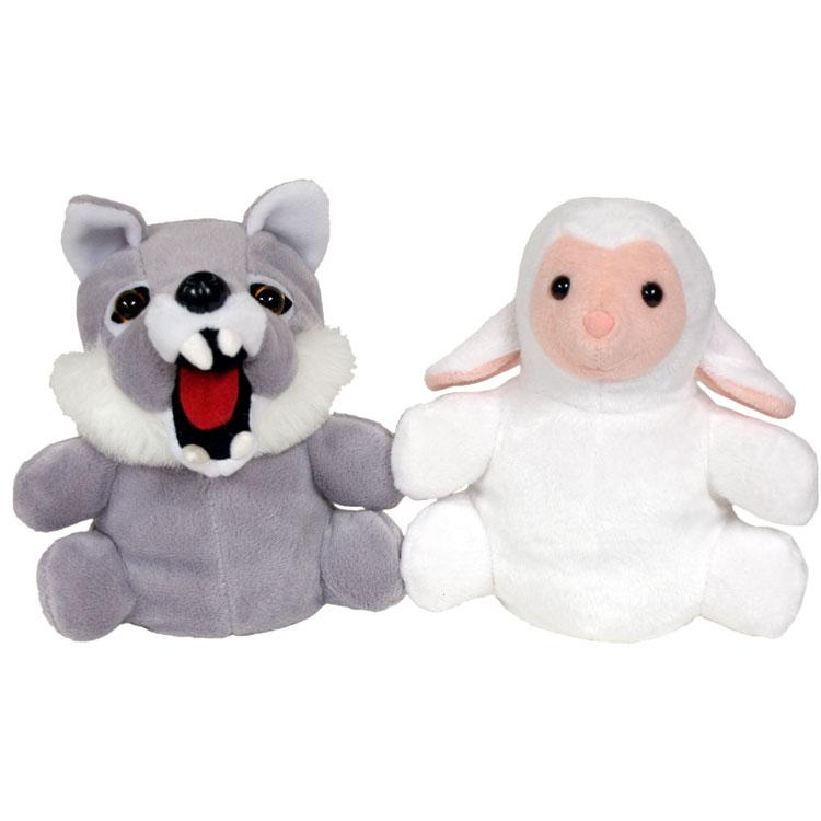 "7"" Wolf/Sheep Reversible Puppet"