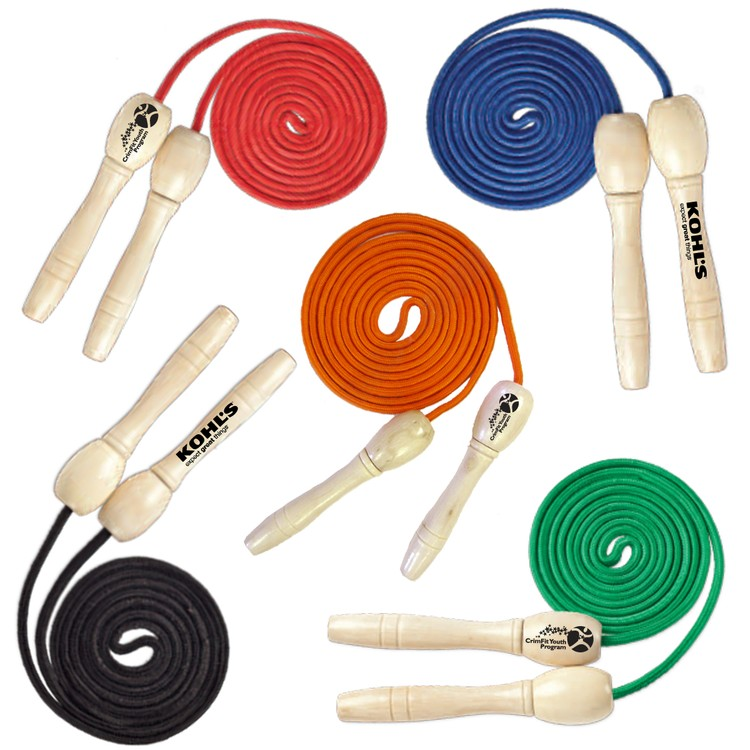 Wooden Handle Jump Rope 9 feet long - 108 inches