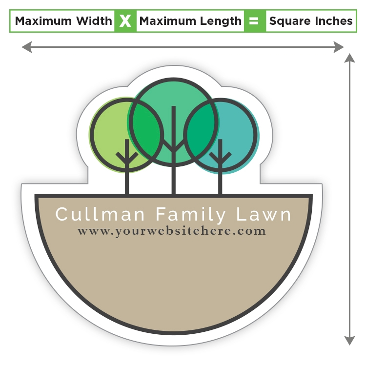 Custom Shape Magnet - 7.01 to 8 Square Inches - 25 Mil.