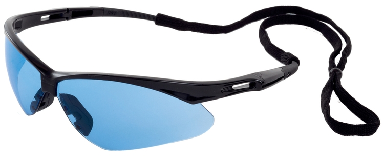 Octane Safety Glasses (Black Frame/Lt Blue Lens)