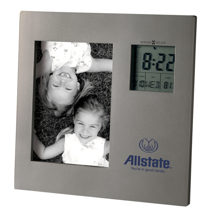 Howard Miller Picture This tabletop clock with photo frame