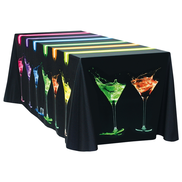 Fully Dye Sublimated 8' Table Throw - Standard Poly Fabric