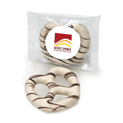 White Chocolate Dipped Pretzel - Gourmet Food Gift