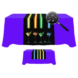 Digital 30 x 84  Table Runner - Liquid Repellent Fabric
