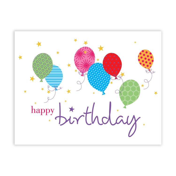 Stars and Balloons Birthday Card