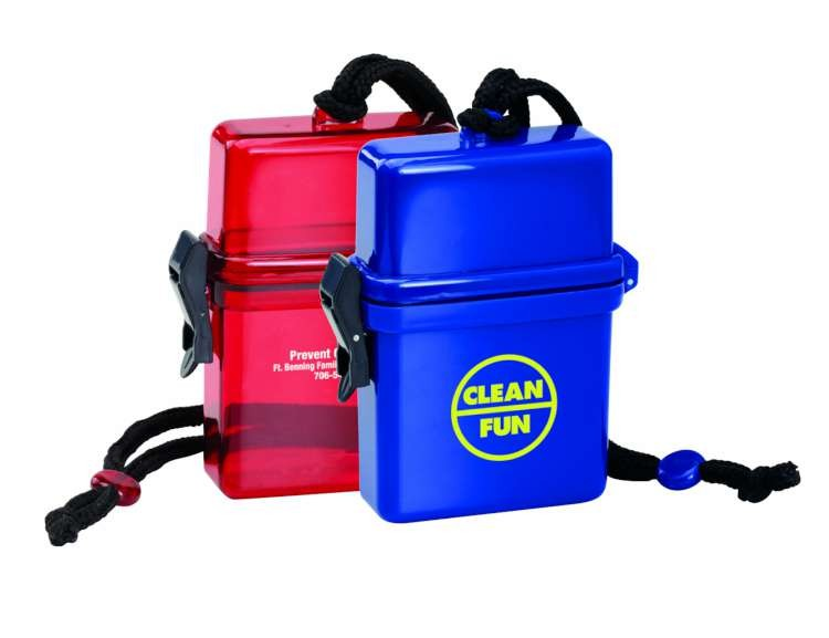 Portable Beach Safe Container with Lid and Cord