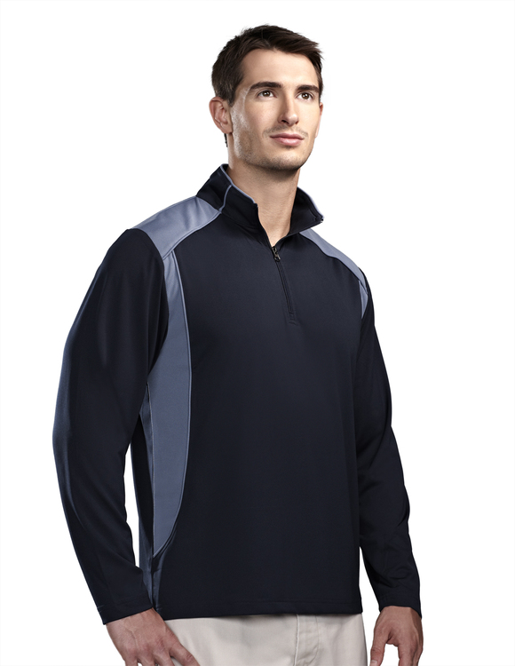 Men's Poly UltraCool™ 1/4 zip pullover shirt - DIVERSION
