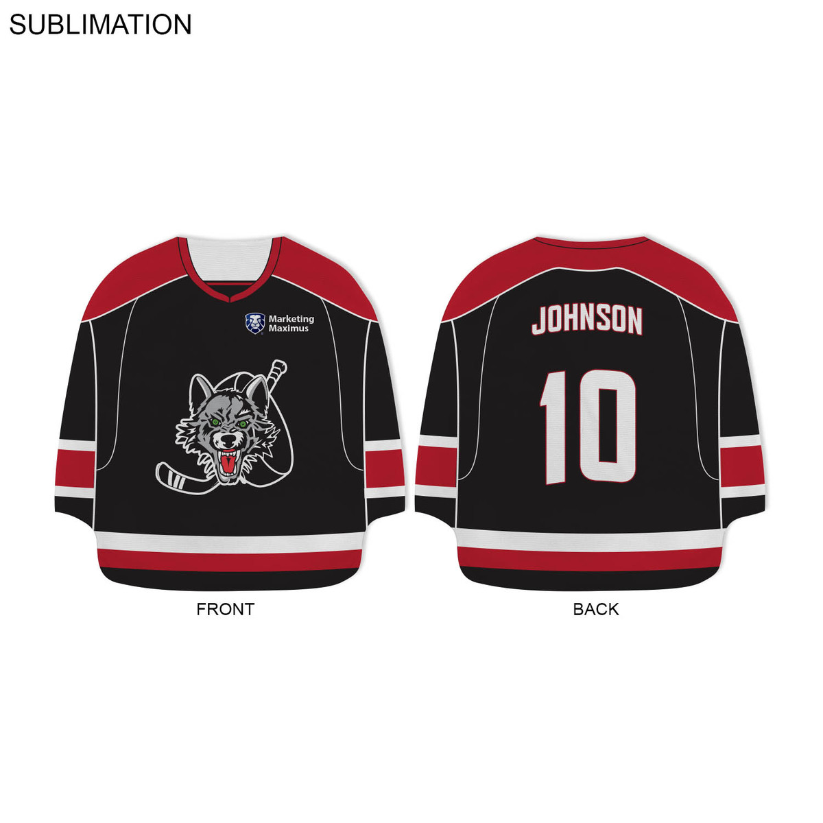 Hockey Jersey Shape Rally Towel 17x17 Sublimated Or