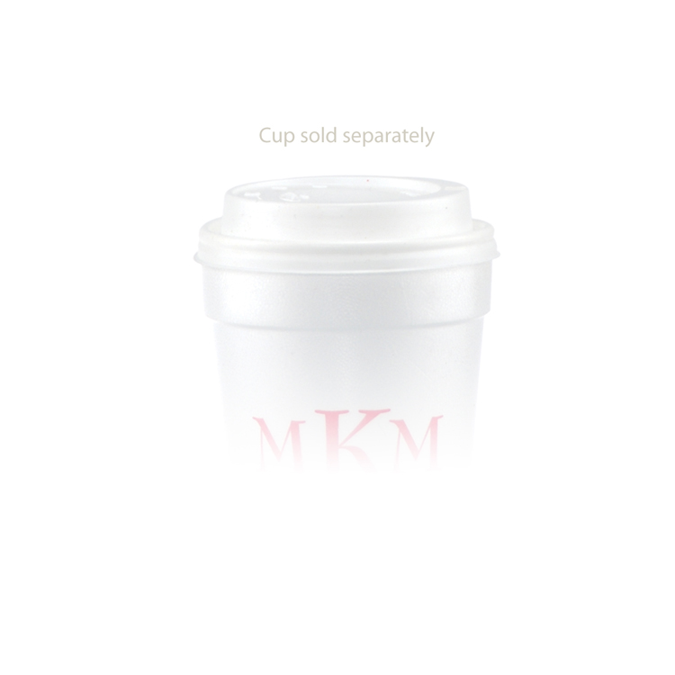 12 oz Foam Cup Domed Lid - White