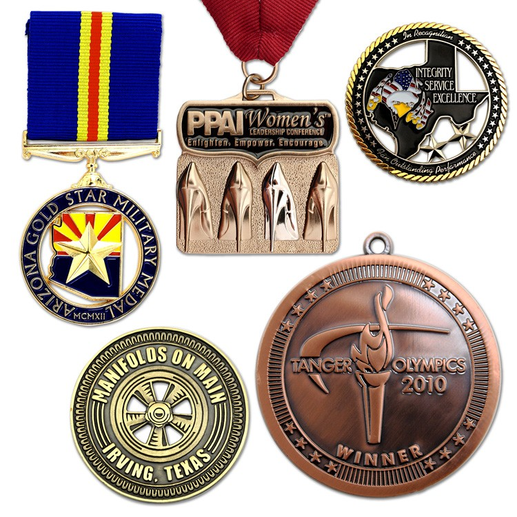 Custom Die Cast Zinc Medals and Charms 1-3/4