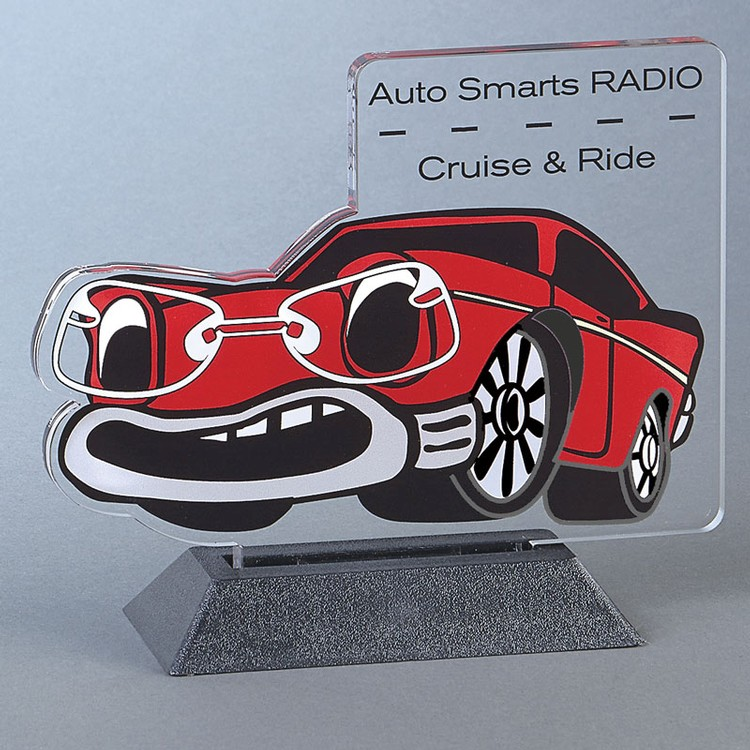 CUSTOM CAR Snappy up to 24 sq.in. Any Shape Acrylic In A Base