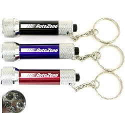 Super bright LED flashlight with swivel split keychain