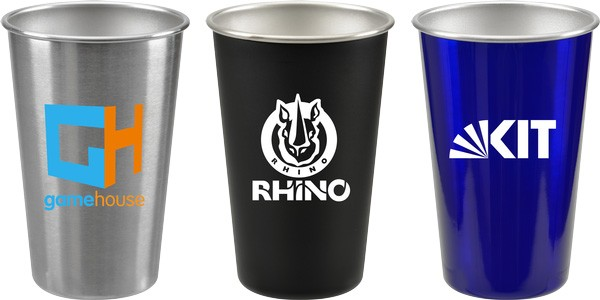 16 oz Stainless Steel Pint Glass
