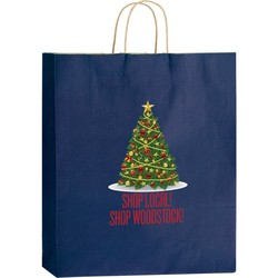 Matte Shopper Bags with Twisted Paper Handles - 4M16619 - Color Evolution 4CP Heat Transfer