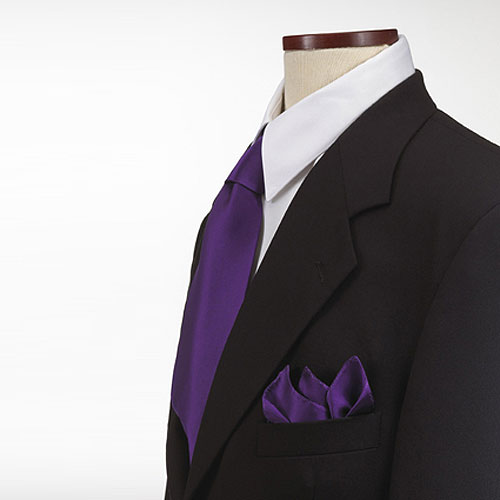 Purple Polyester Pocket Square