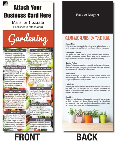 AdCard – Gardening / Fresh Air Plants