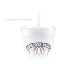 14/16/20 oz Foam Cup Straw Slot Lid - Frosted