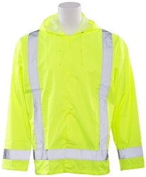 S373 Aware Wear ANSI Class 3 Hi-Viz Lime Oversized Raincoat (5XL/6XL)