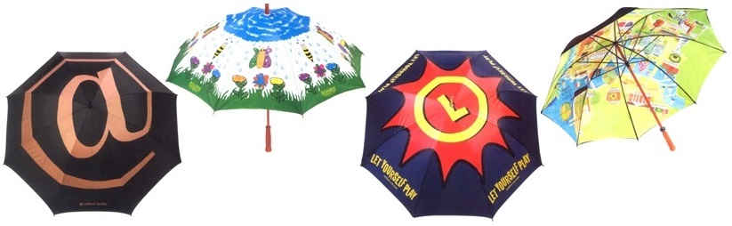 custom umbrellas full canopy print