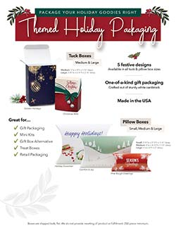 Holiday Packaging Flyer