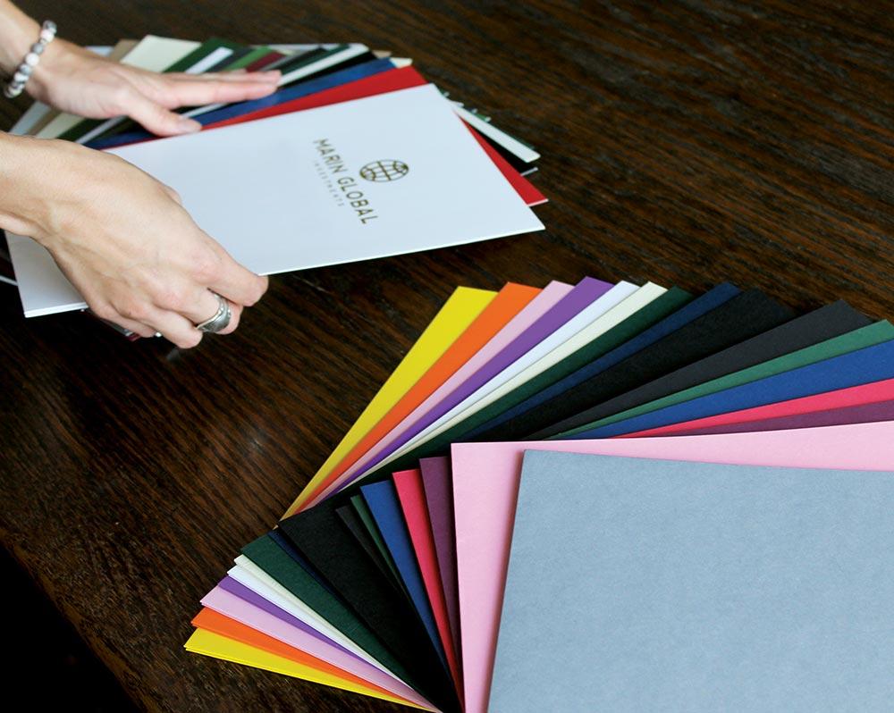 Pocket Folder Paper Options