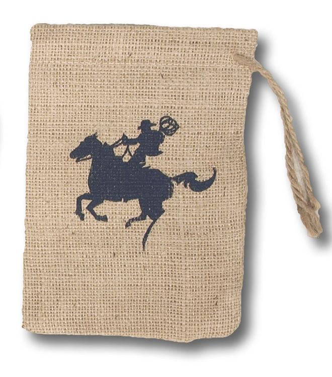 Coffee Bean Jute Burlap Drawstring Bag 6x8