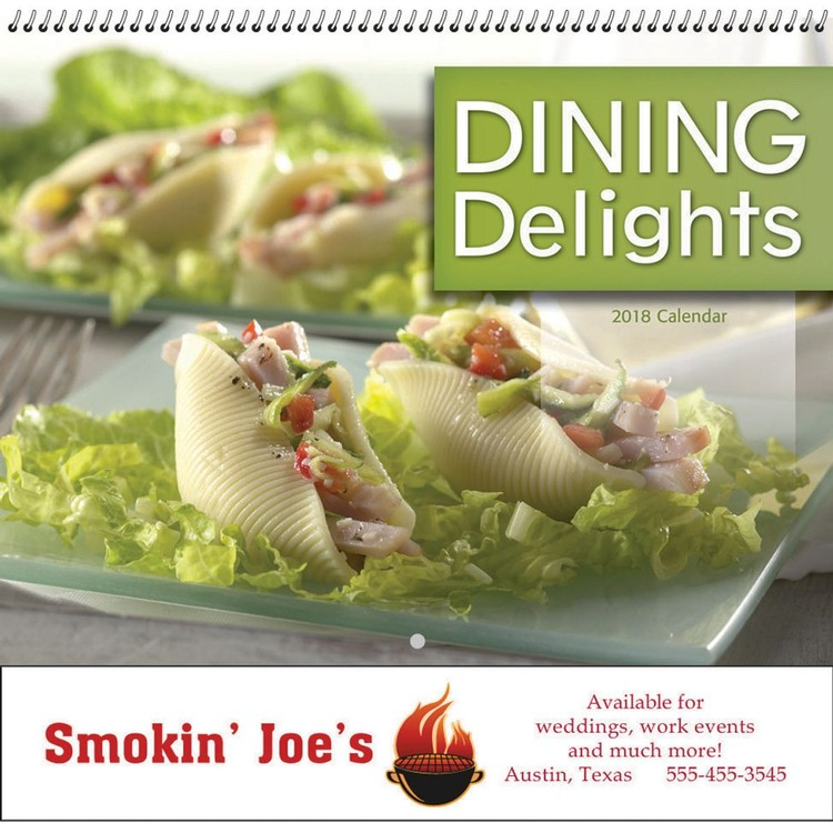 Dining Delights Wall Calendar - Spiral - Customizable