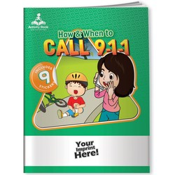 Activity Book w/ Fun Stickers - How & When to Call 9-1-1