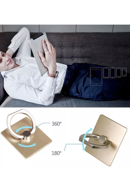 Customizable Rotating Metal Ring Phone Stand/Holder