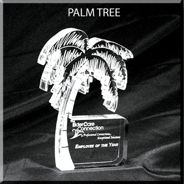 Low Price High Quality TROPICAL PALM TREE AWARD cut from 9 square inch acrylic piece