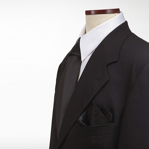 Black Polyester Pocket Square