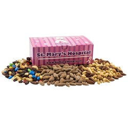 Large Chest Box with Trail Mix, Almonds, and Mixed Nuts - nuts
