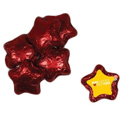 Individually Wrapped Candy Stars - Red