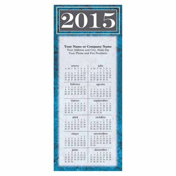 Marble Spanish 2-Sided Card Calendar