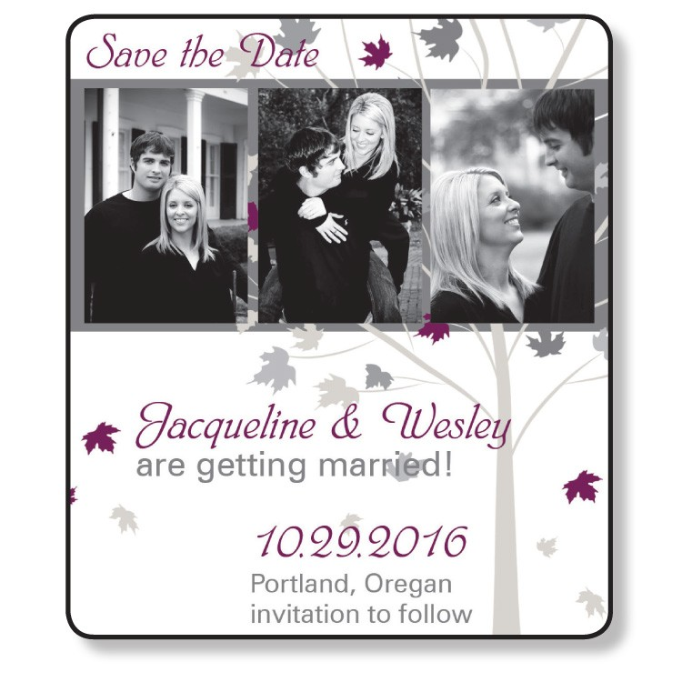 3.5x4 Wedding Magnet with FREE Printed Envelopes - FI #224