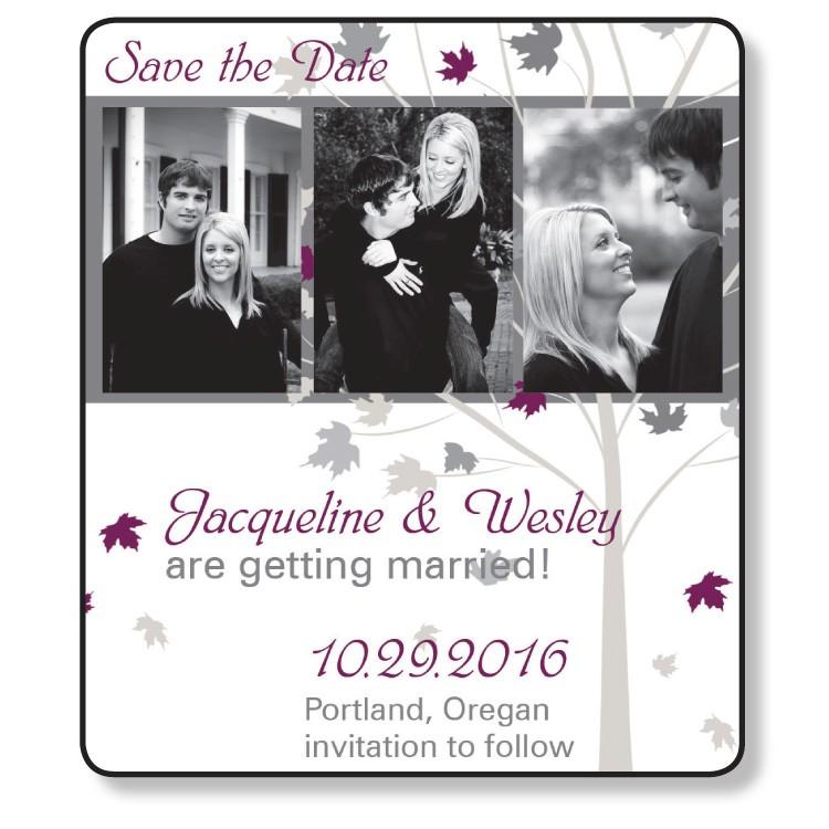 3.5x4 Wedding Magnet with FREE Printed Envelopes - FI #224
