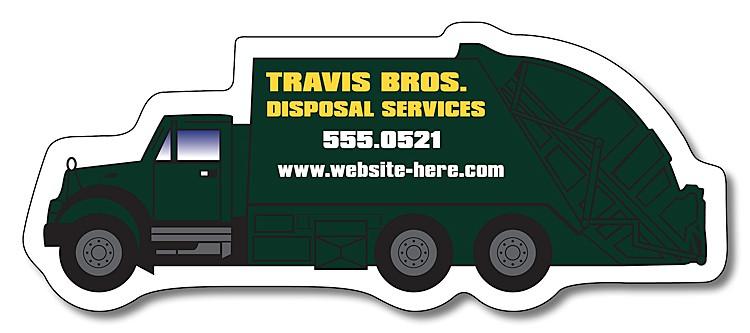 Magnet - Trash Truck Shape (4.25x1.75) - 30 mil.