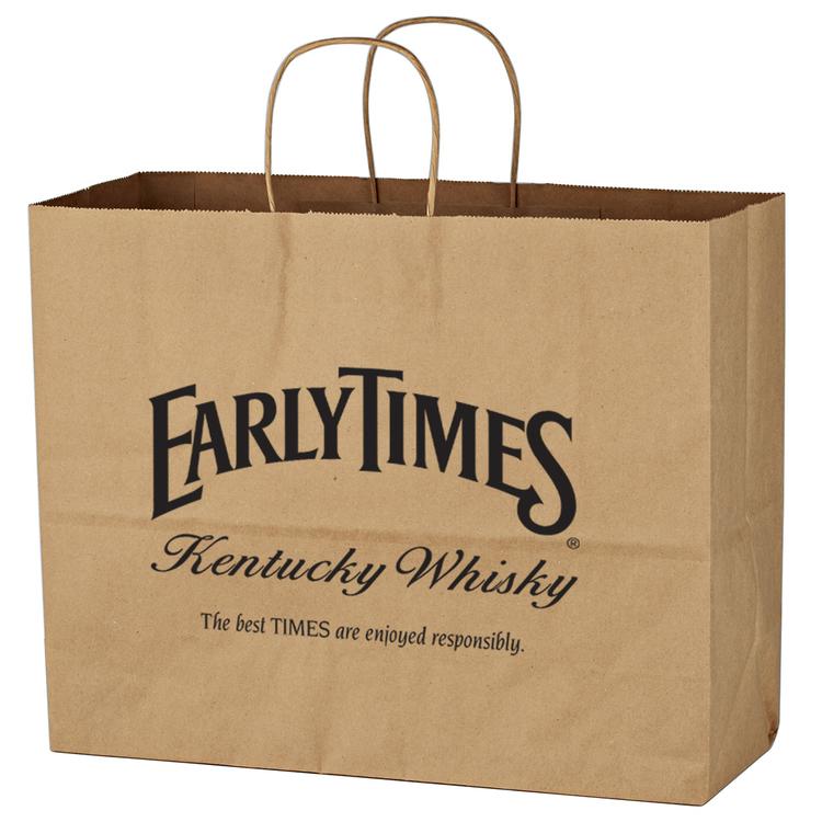 Kraft Paper Brown Shopping Bag - 16