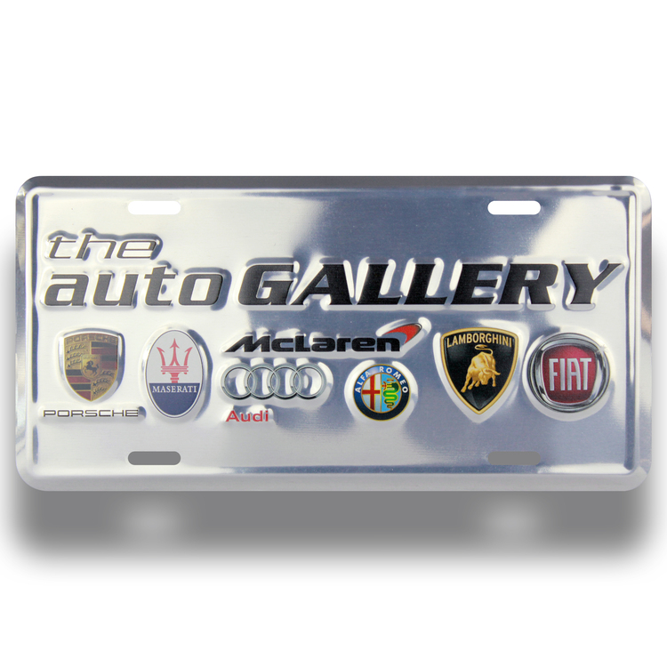 Auto Deluxe License Plates-4 COLOR PROCESS (Embossed)