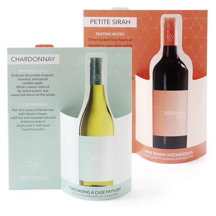 Wine Combo Wave 3D Table Tent