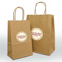 Shopping Bag - Small - Kraft - Label Imprint